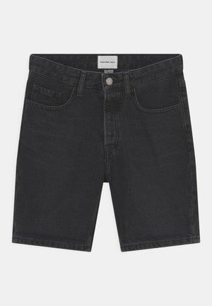 TURN UP - Denim shorts - black denim