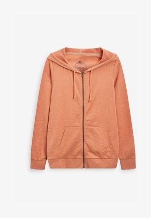Zip-up sweatshirt - orange