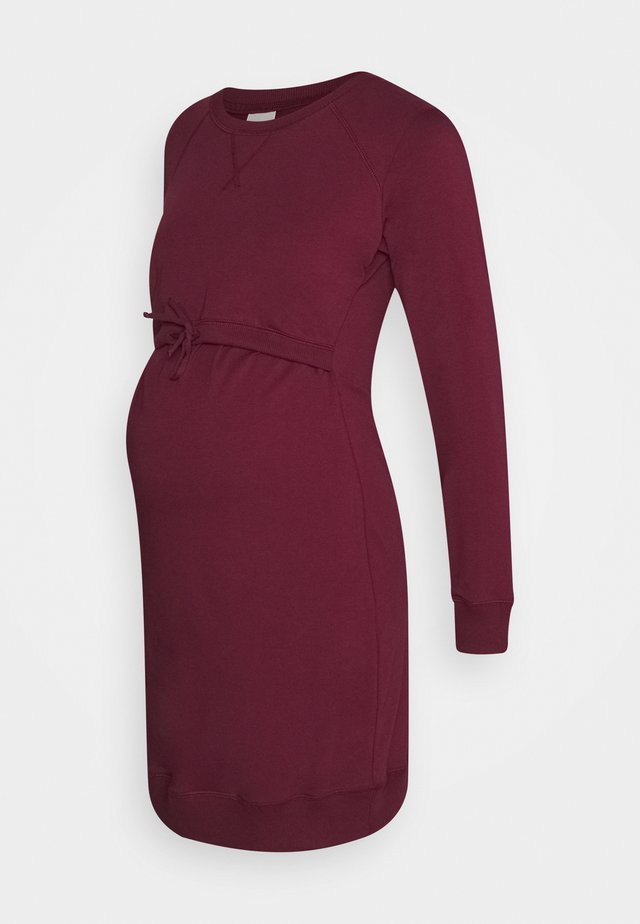 WARMER DRESS - Jersey dress - burgundy