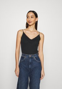 Hollister Co. - BARE CAMI 3 PACK - Top - white/grey/black - 4