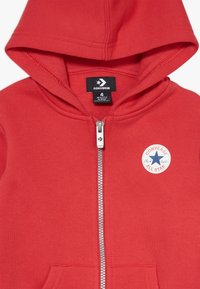 Converse - CHUCK PATCH FULL ZIP HOODIE  - Zip-up hoodie - university red - 3