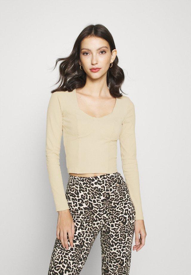 VINNIE  - T-shirt à manches longues - solid beige
