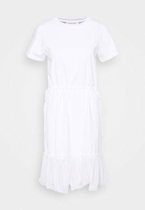 Žerzejové šaty - white powder