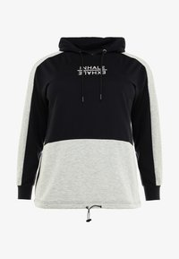 Active by Zizzi - AEXHALE HOODIE - Mikina skapucí - black - 4