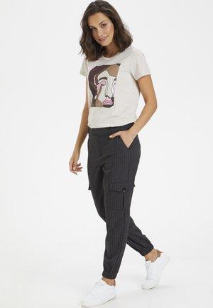 KAMARLIN - Trousers - grey pinstripe