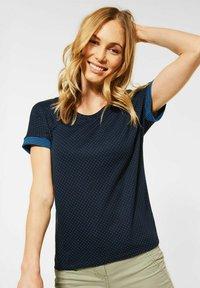 Cecil - Basic T-shirt - blau - 0