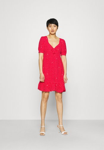 ABITO - Day dress - red pois