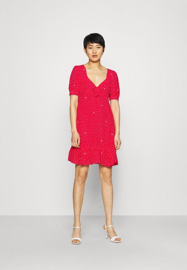 ABITO - Korte jurk - red pois