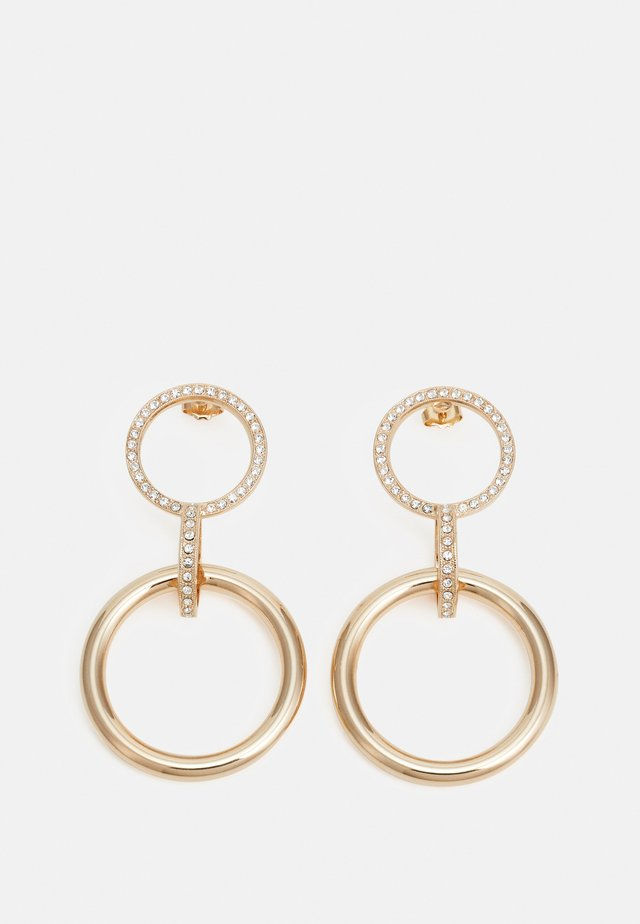 POST DOUBLE CIRCLE WITH LINK PENDANT - Pendientes - gold-coloured
