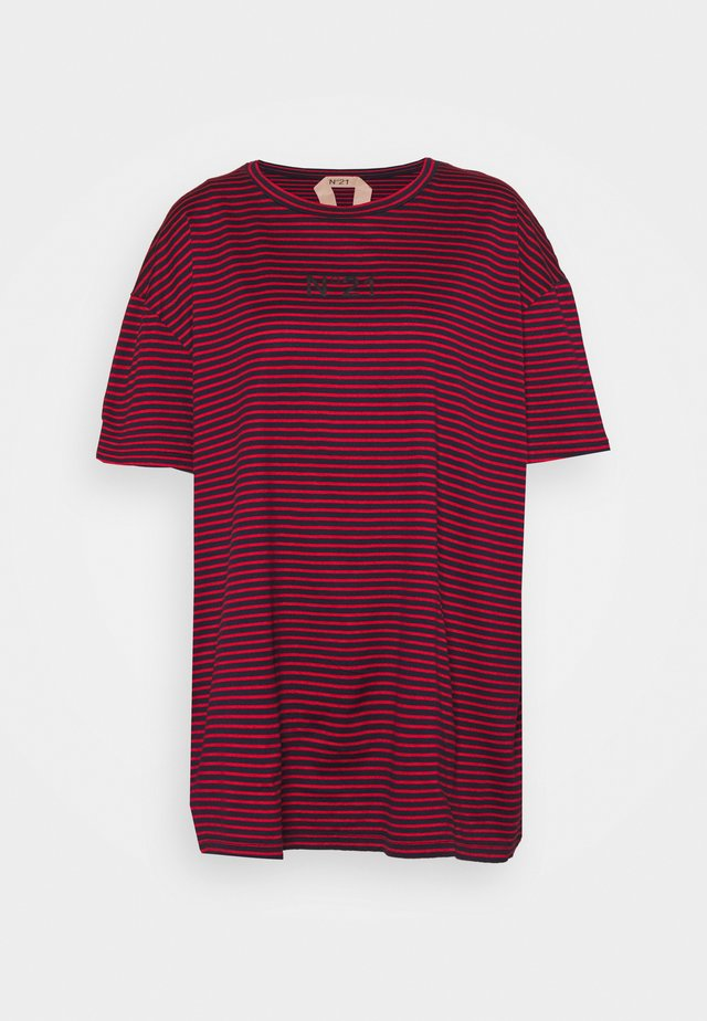 STRIPED TEE - T-shirt imprimé - red