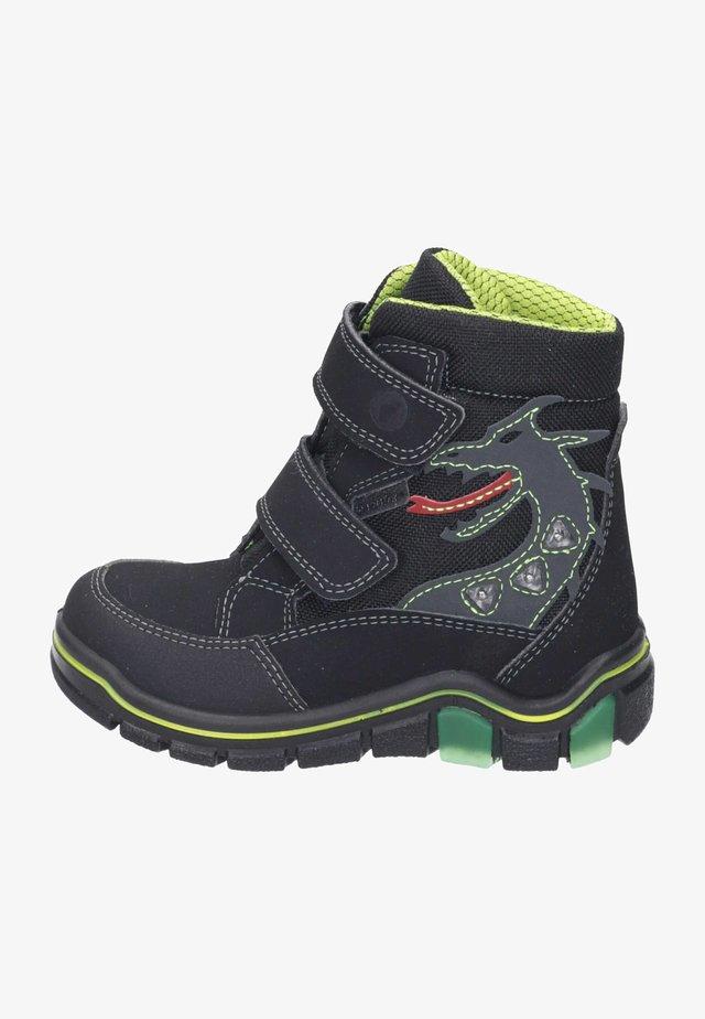 Ankle boots - schwarz/neongelb