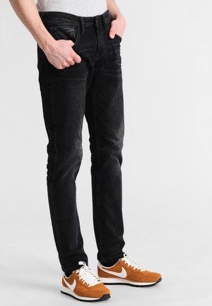 Slim fit jeans - black stone wash denim