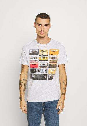 DECADE - T-shirt imprimé - ecru marl