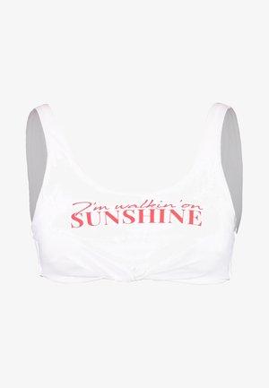 NOUO BEACHBABE SGORGEBRASSIERE - Bikini top - blanc