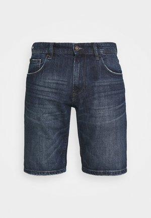 BERMUDA - Shorts vaqueros - used dark stone blue denim
