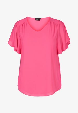 XJAGGER - Basic T-shirt - pink
