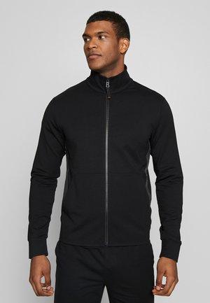 ARCHER - Sweater met rits - black