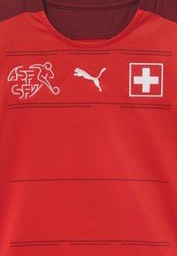 Puma - SCHWEIZ SFV HOME REPLICA - Oblečení národního týmu - red/pomegranate - 3