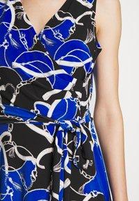 Lauren Ralph Lauren - PRINTED MATTE DRESS - Žerzejové šaty - black/regal sapph - 5