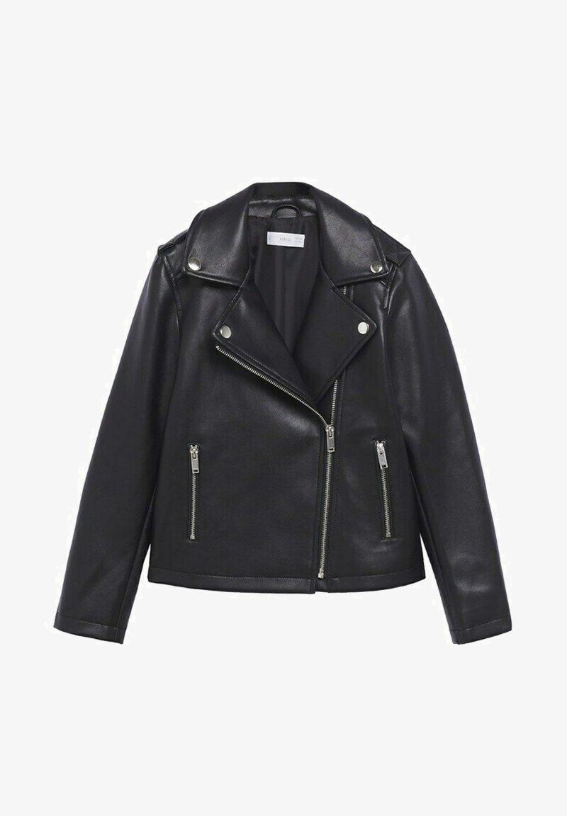 Mango - Faux leather jacket - schwarz