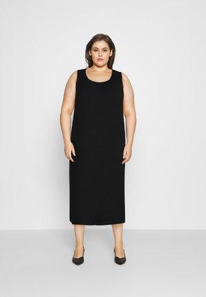 SLEEVELESS MIDI DRESS - Day dress - black