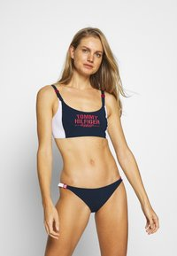 Tommy Hilfiger - SUMMER PATROL - Braguita de bikini - pitch blue - 1