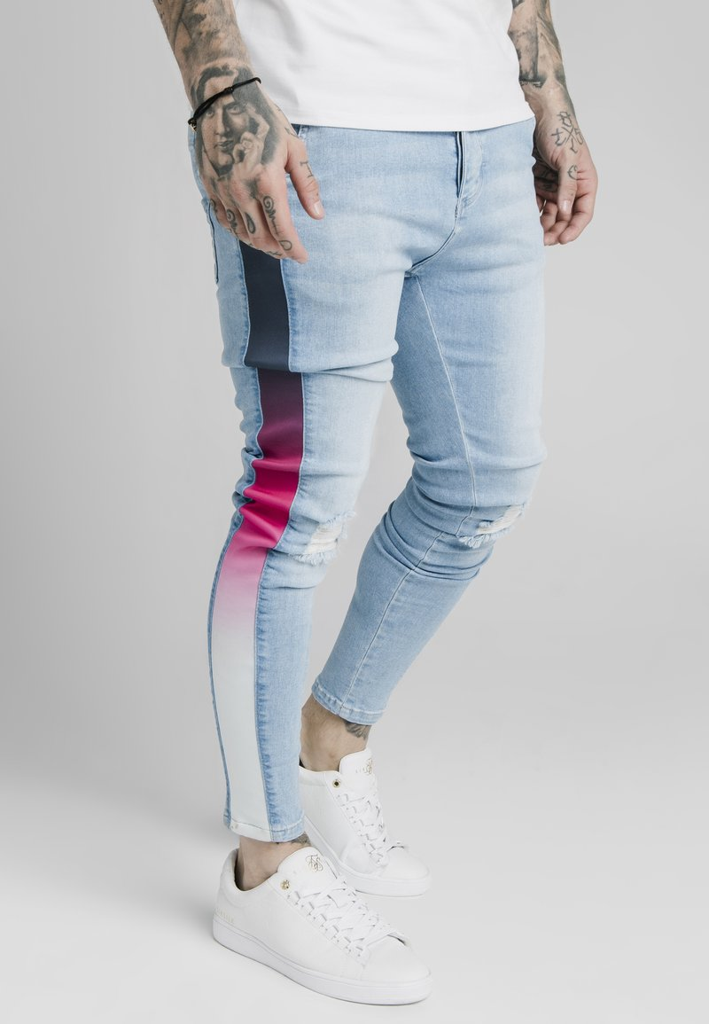 SIKSILK - Slim fit jeans - light blue