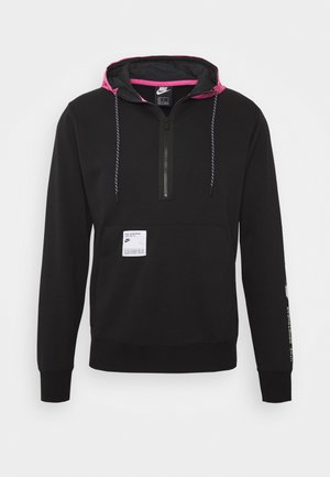 HOODIE - Jersey con capucha - black/pink
