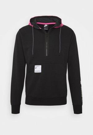 HOODIE - Kapuzenpullover - black/pink