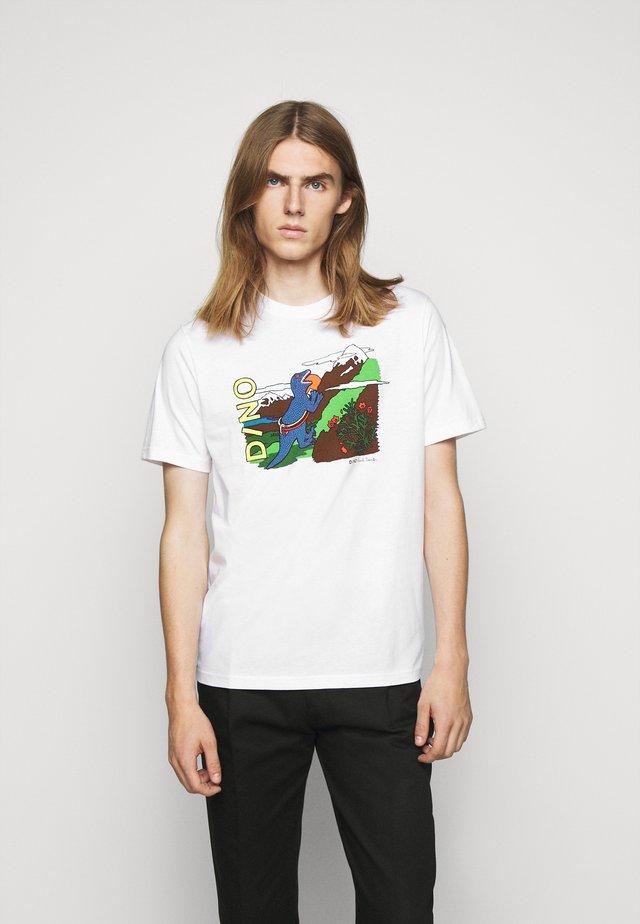 MENS DINO CLIMB - Print T-shirt - white