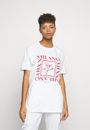 MILANO GRAPHIC SHORT SLEEVE  - Print T-shirt - white