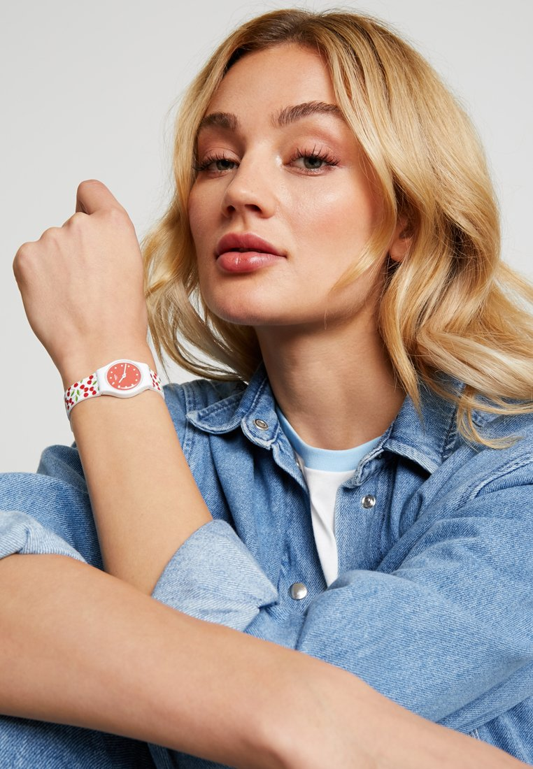 Swatch - CERISE MOI - Hodinky - white/red