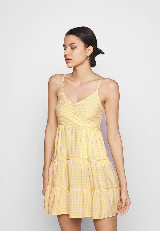 BARE FEMME SHORT DRESS - Korte jurk - yellow