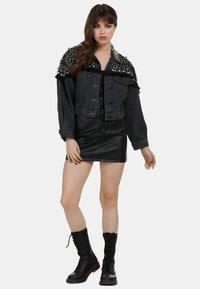 myMo ROCKS - Denim jacket - black - 1