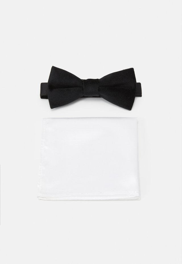 ONSTBOX THEO BOW TIE HANKERCHIEF SET - Kapesník do obleku - black/white