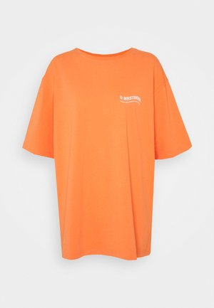 CIRCLE WASHED WOMEN - Print T-shirt - orange