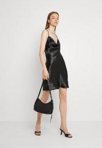 Gina Tricot - MINKY MINI DRESS - Sukienka letnia - black - 1