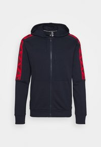 adidas Performance - Zip-up hoodie - legend ink/scarlet - 4