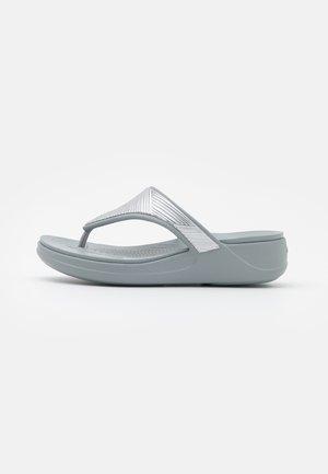 MONTEREY METALLIC  - T-bar sandals - silver