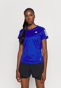 adidas Performance - OWN THE RUN TEE - T-shirts med print - blue - 0