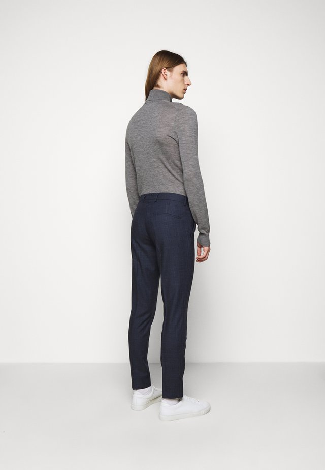 GRANT CHECKED PANTS - Pantalon de costume - mid blue