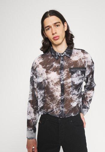 SHEER OVERSIZED - Košile - black