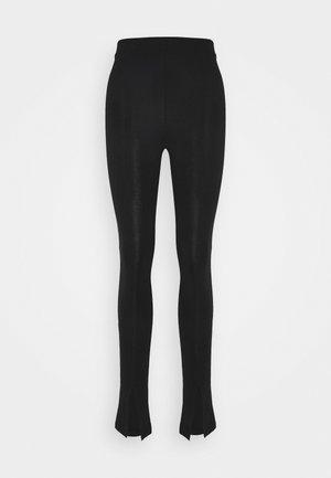 FRONT SLIT - Leggings - Trousers - black