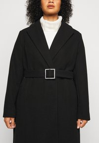 Dorothy Perkins Curve - CURVE BELTED WRAP COAT - Abrigo - black - 6