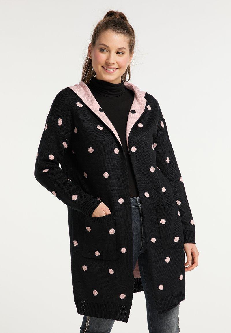myMo - Cardigan - schwarz rosa