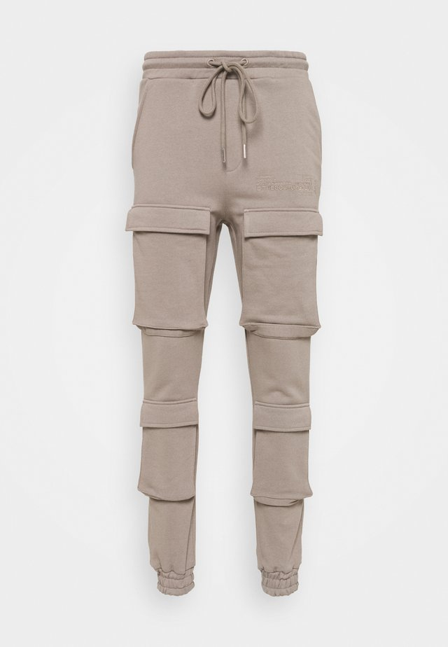 SLIM FIT CARGO JOGGER - Cargo trousers - washed taupe