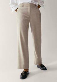 Massimo Dutti - Pantalon classique - beige - 0