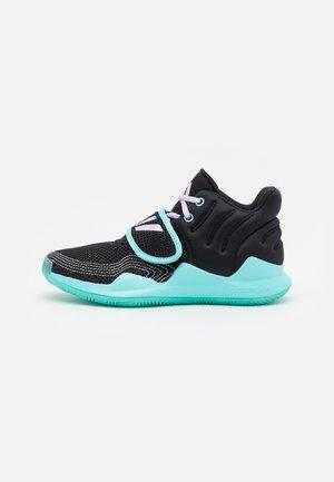 DEEP THREAT PRIMEBLUE BASKETBALL TEAM CLOUDFOAM SHOES UNISEX - Basketball shoes - purple tint/core black/pulse aqua