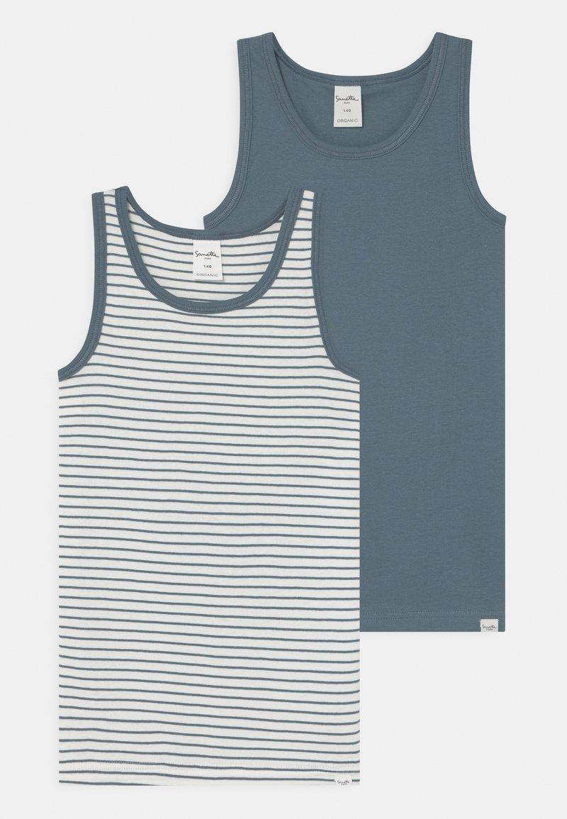 Sanetta - PURE MINI 2 PACK - Undershirt - faded blue