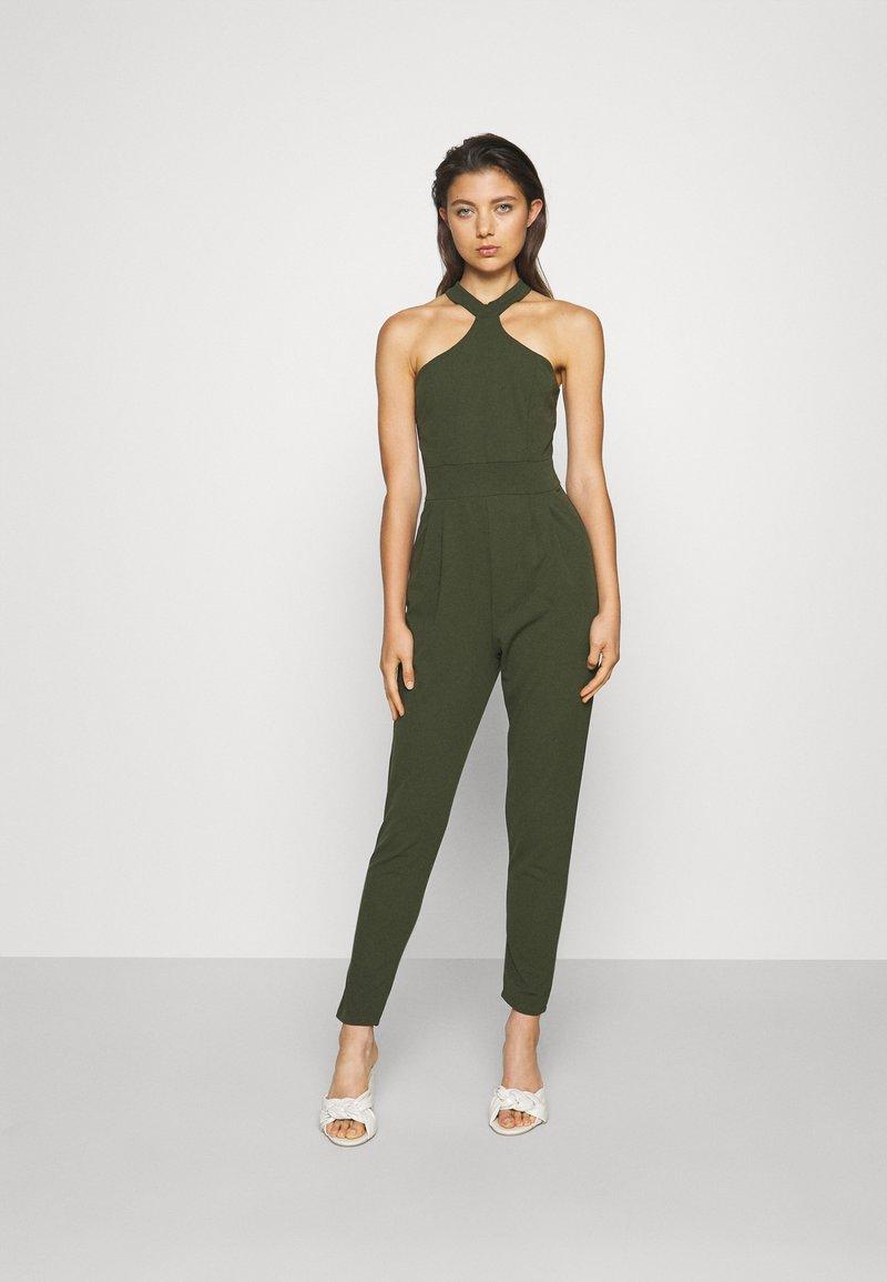 WAL G. - SULTANA HALTER NECK - Jumpsuit - khaki/green